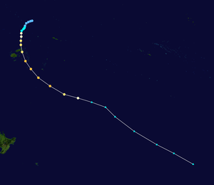 Cyclone Ami - Image: Ami 2003 track