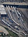 Amtrak 14th Street Coach Yard & Maintainence facility View from Willis Sears Tower Chicago (6107051927).jpg