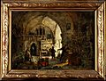 An alchemist in his laboratory. Oil painting by James Nasmyt Wellcome V0023504.jpg