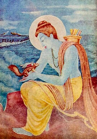 Rama - Rama is portrayed in Hindu arts and texts as a compassionate person who cares for all living beings.