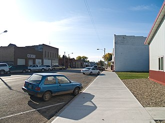 Anamoose, North Dakota - Business district of Anamoose