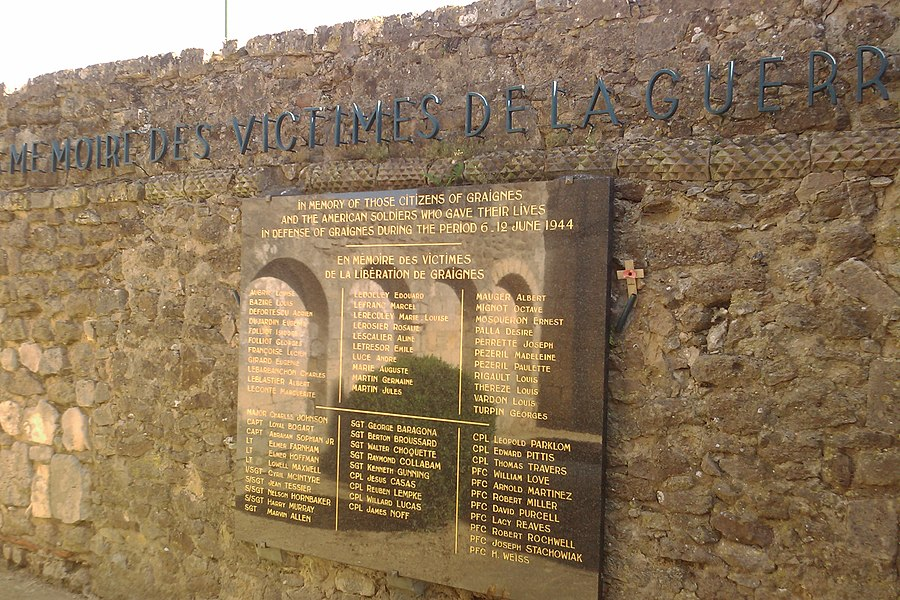 Mémorial Franco-Américain de fr:Graignes, sur les ruines de l'ancienne église