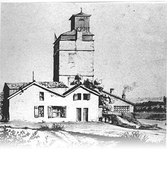 Pavillon de l'eau - The steam pump in 1828
