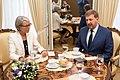 Andrejs Klementjevs tiekas ar Beļģijas vēstnieci (35896996265).jpg