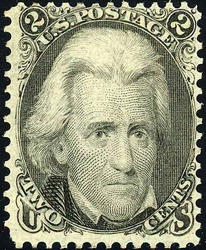 Presidents of the United States on U.S. postage stamps - Andrew Jackson Issue of 1863