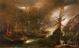 Andries van Eertvelt - Embarkation of Spanish Troops