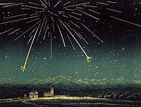 Andromedid meteors, November 1872.jpg