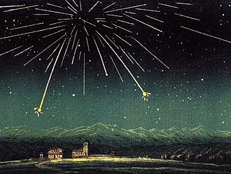 Andromedids - The Andromedids of 27 November 1872, a product of the breakup of Biela's Comet several decades previously.