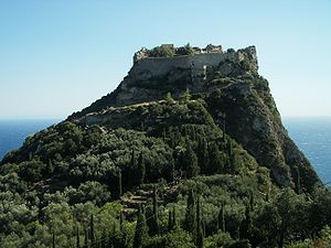 Το φρούριο του Αγγελόκαστρου στην Κέρκυρα. Οι Βυζαντινές επάλξεις του Αγγελόκαστρου αντιστάθηκαν επιτυχώς στην Τουρκική πολιορκία του 1571