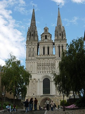 Angers Cathedral - Façade of the Cathedral of Angers