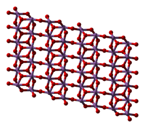 Antimony pentoxide - Image: Antimony pentoxide xtal 1979 3D balls
