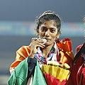 Anu Raghavan Silver 400m Hurdles competitors (cropped).jpg
