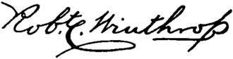 Robert Charles Winthrop - Image: Appletons' Winthrop John Robert Charles signature