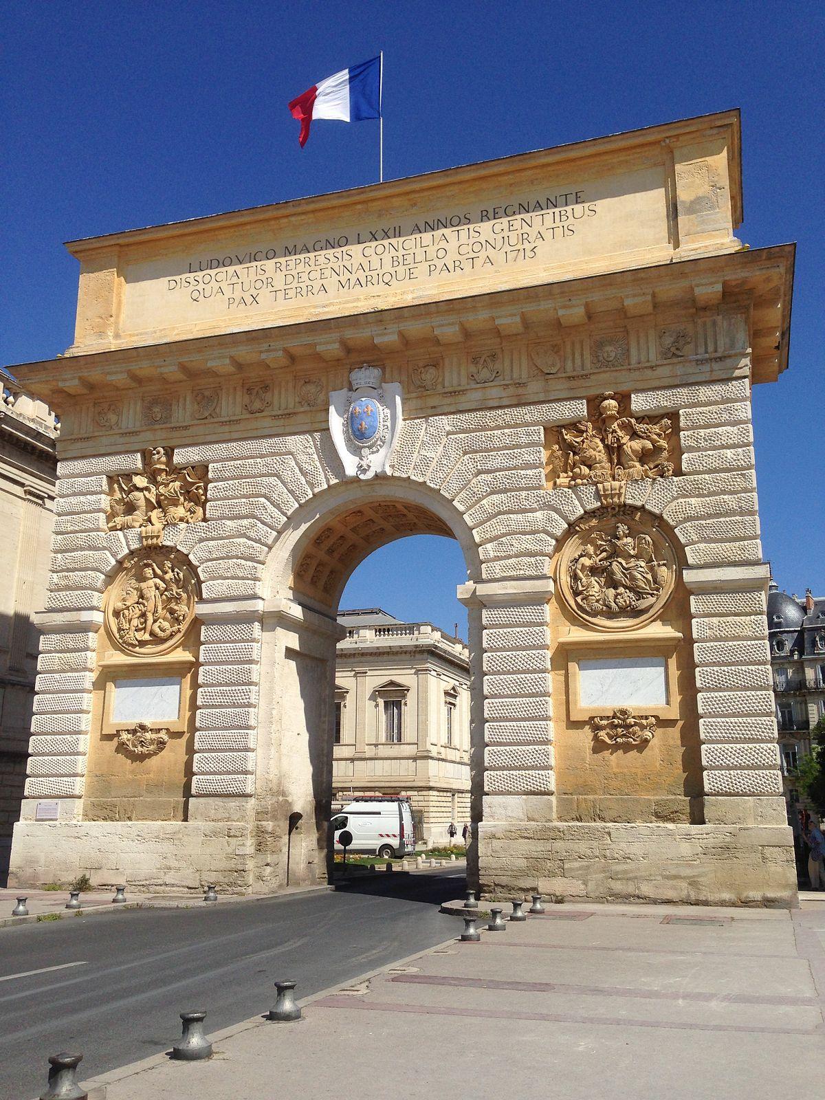 Arc de triomphe montpellier wikip dia - Arc de triomphe montpellier ...