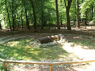 Feature of certain prehistoric grave sites