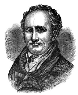 Archibald Constable - Lithograph of Archibald Constable published in A History of Booksellers, the Old and the New.
