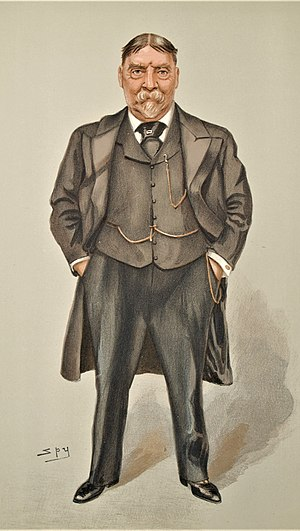 "Archibald Lucius Douglas - ""North America and West Indies"" Douglas as caricatured by Spy (Leslie Ward) in Vanity Fair, July 1902"