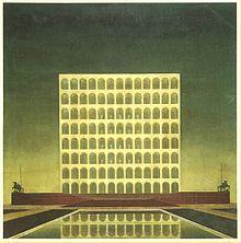 Quadro a olio di E. Lapadula per il Concorso del Palazzo della Civiltà Italiana a Roma (EUR) del 1937