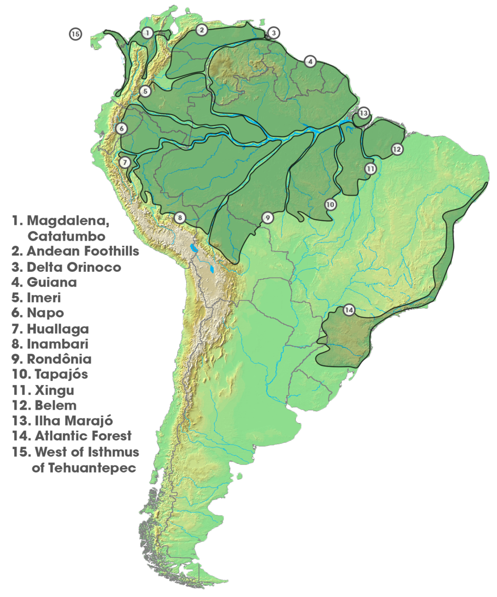 Areas of Endemism (South America)