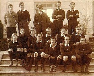 Argentina Centennial - The Argentina national rugby union team before playing its first international v. the British Lions at Sociedad Sportiva Argentina, 12 June 1910