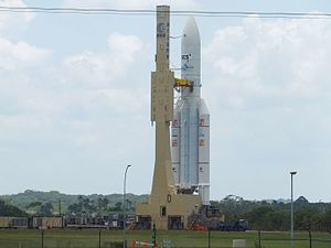 European Space Agency - Ariane 5 ECA transported to the ELA-3 launch pad