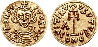 Arechis II of Benevento - Another tremissis of Arechis