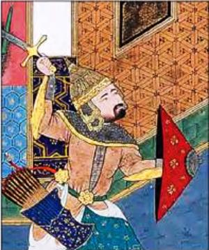 Arjasp - In the Shahnameh of Shah Tahmasp.