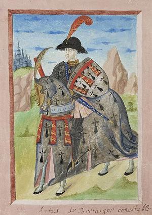 Arthur III, Duke of Brittany - Image: Armorial de Gilles le Bouvier BNF Fr 4985 f 17v