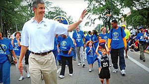 Arne Duncan during Chicago Public Schools.