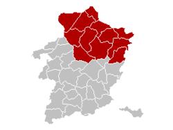 Location of the arrondissement in Limburg