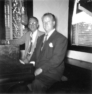 Gene Austin - Gene Austin, guest of Art Gillham at WQXI Atlanta (September, 1953)
