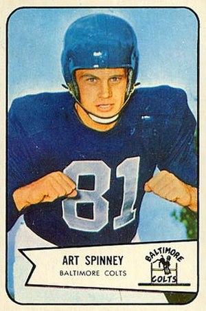 Art Spinney - Spinney on a 1954 Bowman football card