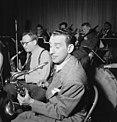 Arthur Rollini, Sidney Stoneburn, and Vernon Brown, Museum of Modern Music program, ABC studio, New York, N.Y., ca. May 1947 (William P. Gottlieb 07501).jpg
