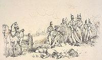 Artillery in Battle of Waterloo by Jones
