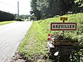 Arzviller (Moselle) city limit sign.jpg