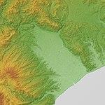 Ashigara Plain Relief Map, SRTM-1.jpg