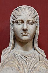 منحوتة أسبازيا في متحف الفاتيكان، وهي من أثار القرن الخامس قبل الميلاد، وهي نسخة خاصة بروما، وتمثل مزار أسبازيا