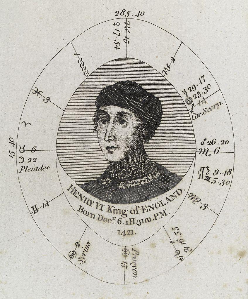 Natal Birth Chart: Astrological birth chart for Henry VI Wellcome L0040351.jpg ,Chart