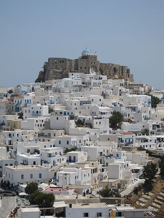 Astypalaia - View of Astypalaia and its castle