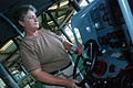 At the controls of a patrol boat -- Guantanamo.JPG