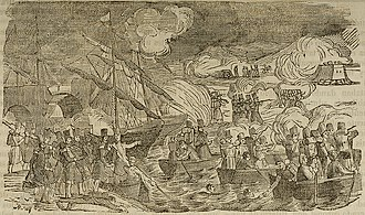 Carlism - Attack on the bridge of Luchana, near Bilbao during the first war.