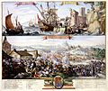 Atlas Van der Hagen-KW1049B11 052-Twee scenes- -1- VLUGT VAN JACOB DE II uyt Ierland naar Vrankrijk, den 12 Iuly 1690 -2- OVERWINNING VAN KON. WILLEM DE III. door het volkomen slaan van Jacob de II. in Ierland den 11 Iuly 1690.jpeg