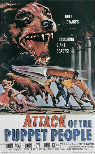 Attack of the Puppet People - Theatrical release poster by Reynold Brown