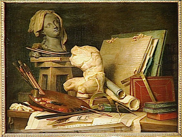 Attributes of painting, sculpture & architecture