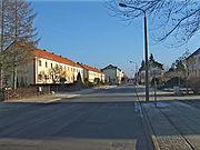 Die August-Bebel-Straße in Elsterwerda-West.