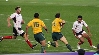 2011 Rugby World Cup - Australia vs USA at Regional Stadium, Wellington. Australia won 67–5.