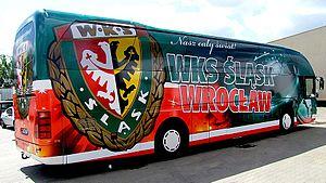 Śląsk Wrocław - The team bus in 2011
