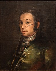 Francisco Goya: Self portrait with spectacles