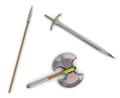 Axe, sword and spear.PNG