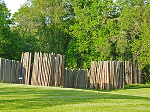 Aztalan State Park - Reconstructed stockade near the Crawfish River